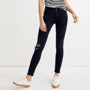 NEW Madewell Tall 9-Inch Mid-Rise Skinny Jeans